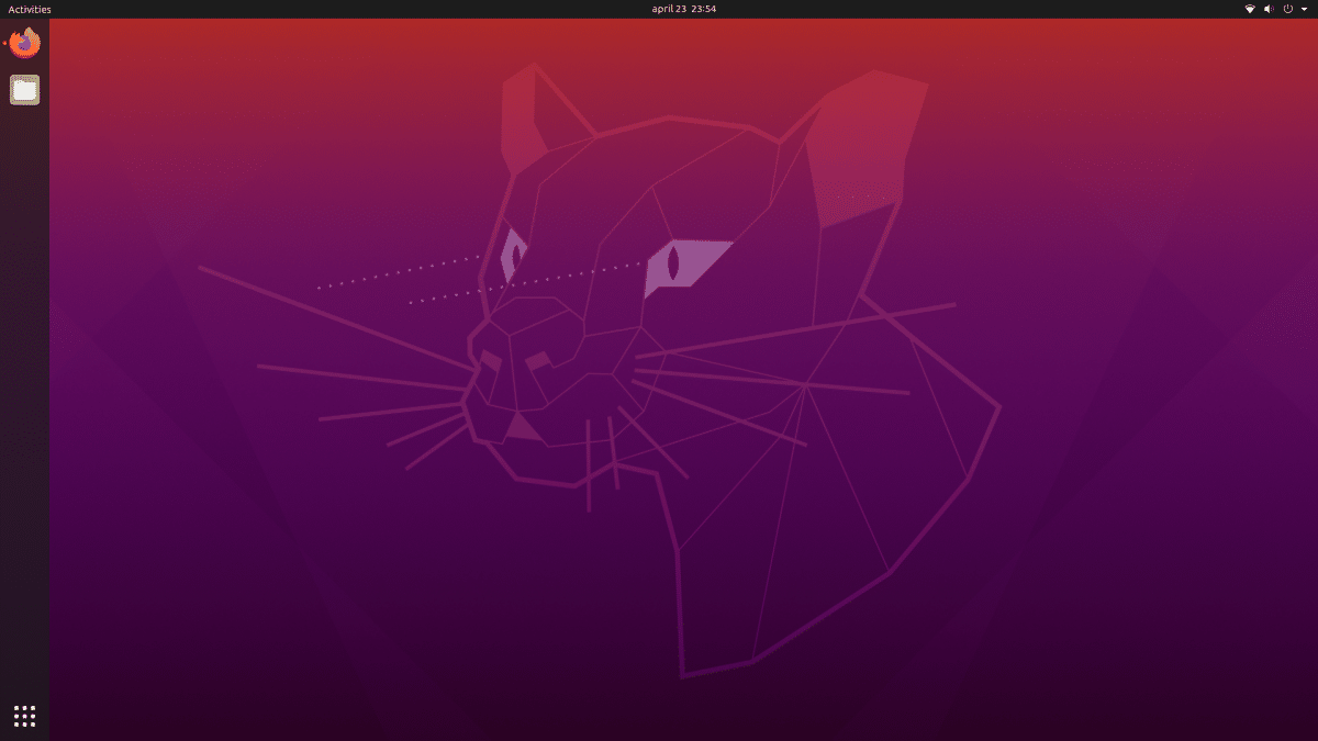 Ubuntu 20.04 desktop, cleaned up.