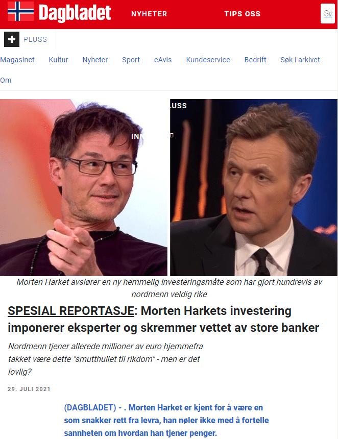 "The website pretends to be ""Dagbladet""(Norwegian news site)."